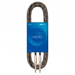NEON INSTRUMENT CABLE STRAIGHT TEXTILE GR