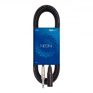 NEON MALE XLR MICROPHONE CABLE – PLUG MONO TS