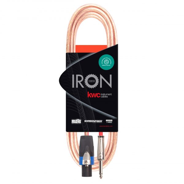 IRON CABLE FROM HEAD TO SPEAKON BOX – PLUG TS